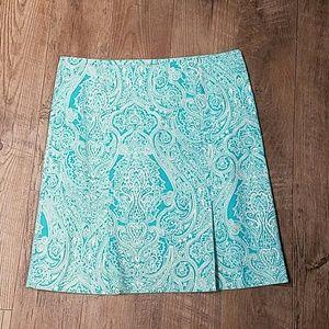 Blue Paisley Talbots Skirt
